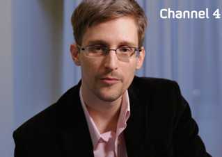 Edward Snowden delivers Channel 4's Alternative Christmas Message. Picture: Getty