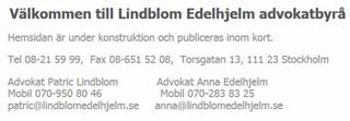 Lindblom Edeljelm, hemsida