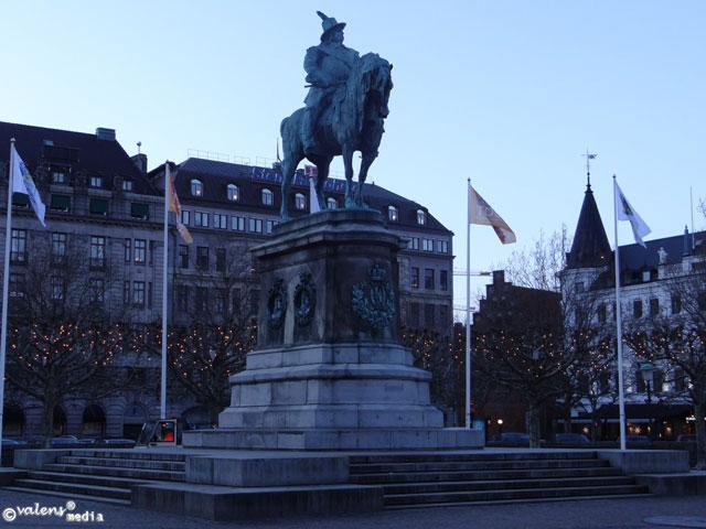 Kungen Karl X, Malmö, Stortorget