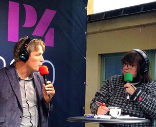 Lotta Bromé intervjuar Thomas Bodström, P4-extra, Sveriges radio.jpg