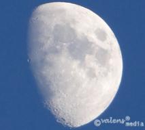 Månen över Teleborg - Växjö, 2012-12-22
