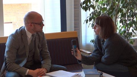 Marie Mattsson/P4 Väst intervjuar