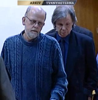 Thomas Quick med Växjöadvokaten Sten-Åke Larsson vid sin sida