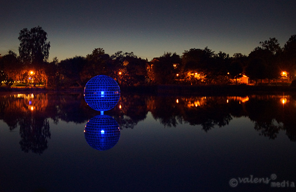 Spegelbollen vid sjön Trummen