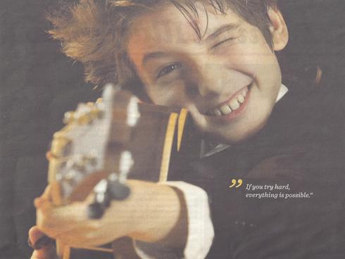 Frano, bild i DN.kultur, annons från Uppsala internationella Gitarrfestival