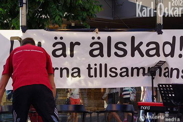 """""""Kyrkorna tillsammans"""", Växjö - Storgatan, 2012-08-03"""