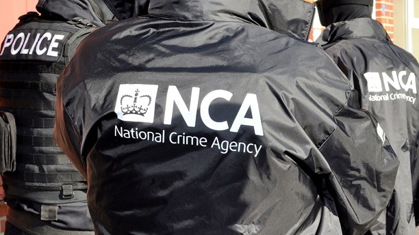 Brittiska polismyndigheten NCA. Foto: AFP/National Crime Agency/TT