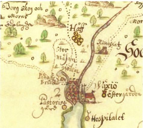 Karta äver Norrvidinge från 1658